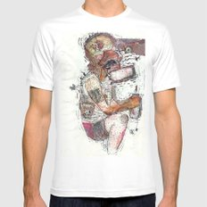 Knock Out White MEDIUM Mens Fitted Tee