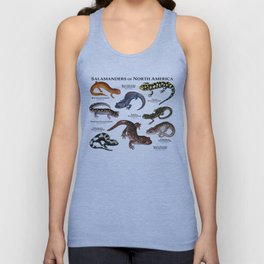 Salamanders of North America Unisex Tank Top
