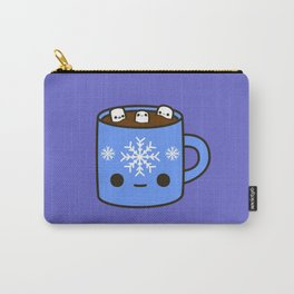 Mug of hot chocolate with cute marshmallows Carry-All Pouch
