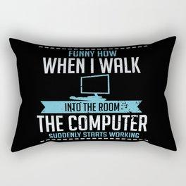 Computer Geek Design: Tech Support I Computer Starts Working Rectangular Pillow