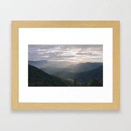 Sunrise in North Georgia Mountains Framed Art Print