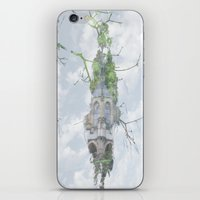 castle in the sky iPhone & iPod Skins featuring castle in the sky by Phil Hill