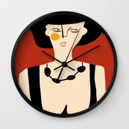 Girl in evening gown Wall Clock