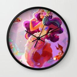 Neon Koi Wall Clock