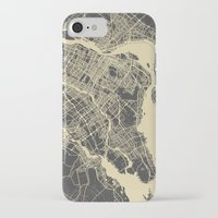 montreal iPhone & iPod Cases featuring Montreal Map by Map Map Maps