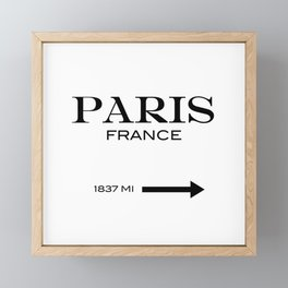 Paris Framed Mini Art Print