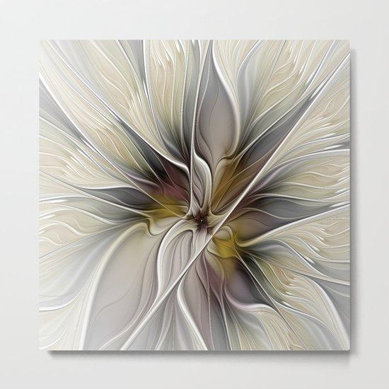 Floral Abstract, Fractal Art Metal Print