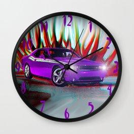 Plum Crazy Challenger Wall Clock