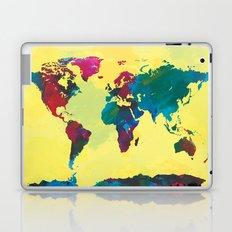 Watercolor World Map Laptop & iPad Skin