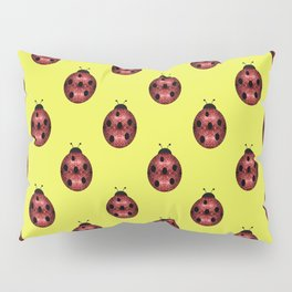 Beautiful Sparkling red sparkles Ladybird Ladybug Pillow Sham