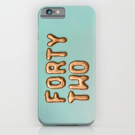 fortytwo - 42 iPhone Case