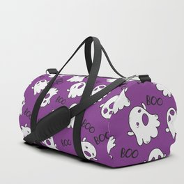 Halloween Purple Cute Ghost Pattern Duffle Bag