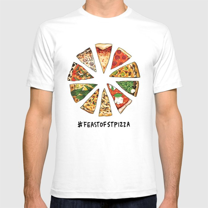 Feast of St. Pizza: Philadelphia Edition with Text T-shirt