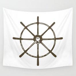 Ships Wheel Wall Tapestry
