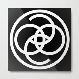 Coco Cashmere Black + White Metal Print