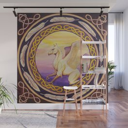 The Guardian - Celtic Griffin mandala Wall Mural