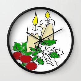 Candles  Wall Clock