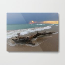 Sunset Drift Metal Print