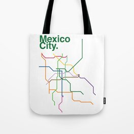 Mexico City Transit Map Tote Bag