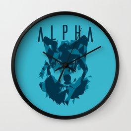 Alpha Wolf Wall Clock