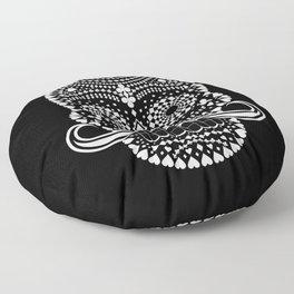 Black Skull  White Suits Floor Pillow