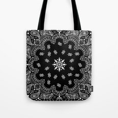 black and white bandana Tote Bag