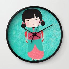 Kokeshi Yuzu Wall Clock