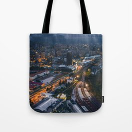 Night City View Tote Bag
