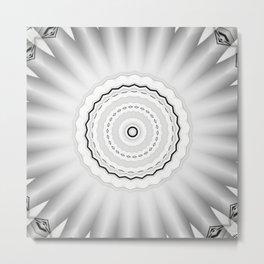 New Frame Oddity Mandala 27 Metal Print