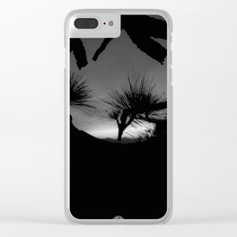 THROUGH THE PINE Clear iPhone Case