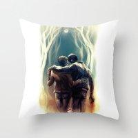 sterek Throw Pillows featuring sterek by AkiMao
