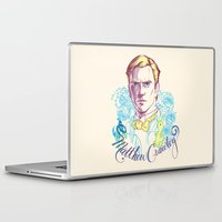 downton abbey Laptop & iPad Skins featuring RIP Matthew Crawley, of Downton Abbey.  by Erin Gallagher Illustration and Design
