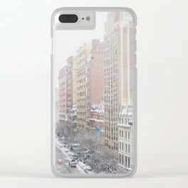 Upper West Side Snow - New York City Photography Clear iPhone Case
