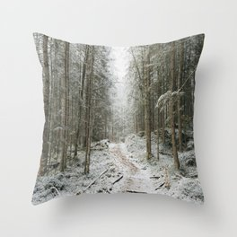 For now I am Winter - Landscape photography Throw Pillow