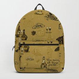 in vino veritas vintage style wine pattern Backpack