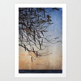 Tree by the Sea Art Print
