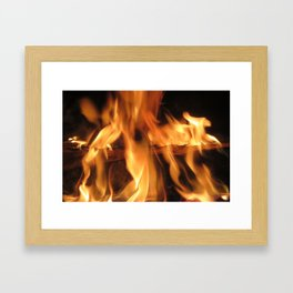 Fireplace Framed Art Print