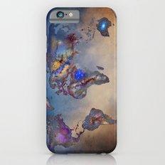 Stars world map. Blue. World map Slim Case iPhone 6s