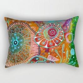 Flower power red edition Rectangular Pillow