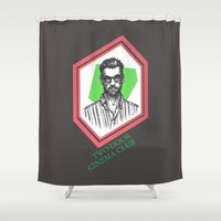 kevin russ Shower Curtains featuring Kevin Baird by AnimatedWhale