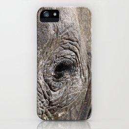 Eye of the elephant, Africa wildlife iPhone Case