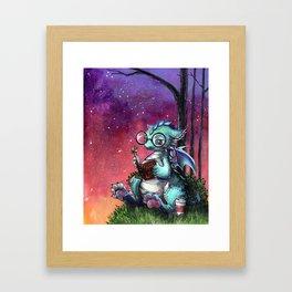Reading Dragon Framed Art Print