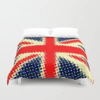 union jack Duvet Covers featuring Union Jack by deff