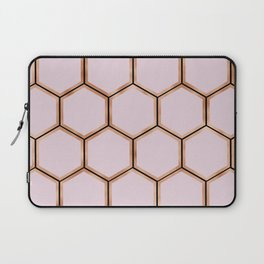 Copper sorbet geometric beehive - touch of onyx Laptop Sleeve