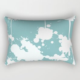 Abstract Paint Splashes Rectangular Pillow