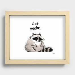 Racoon Recessed Framed Print