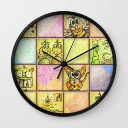 Lunchbox Napkin Art Wall Clock