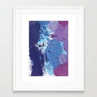 splatter Framed Art Prints featuring Splatter by initiale