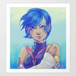 Aqua Fan art Art Print