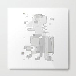 Abstract Dog Portrait - Modern Artwork Metal Print